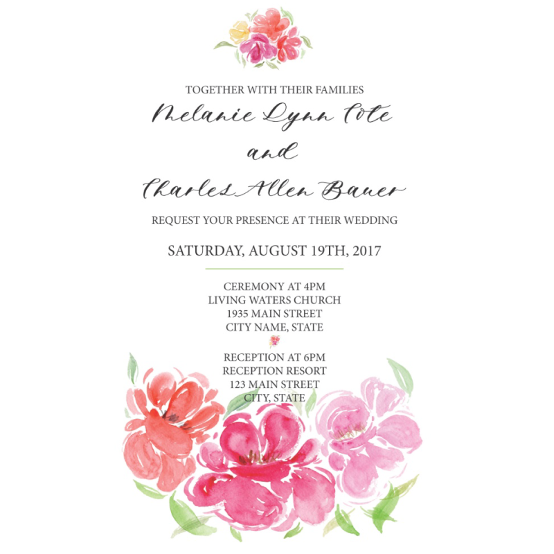 Featured Post 2 – Wedding Invite