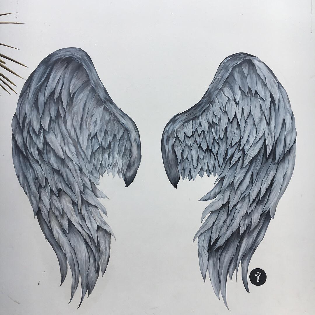 Angel Wings Wall Mural